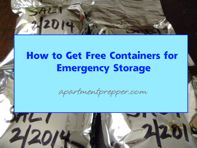How to Get Free Containers for Emergency Storage