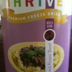 Thrive freeze dried roast beef