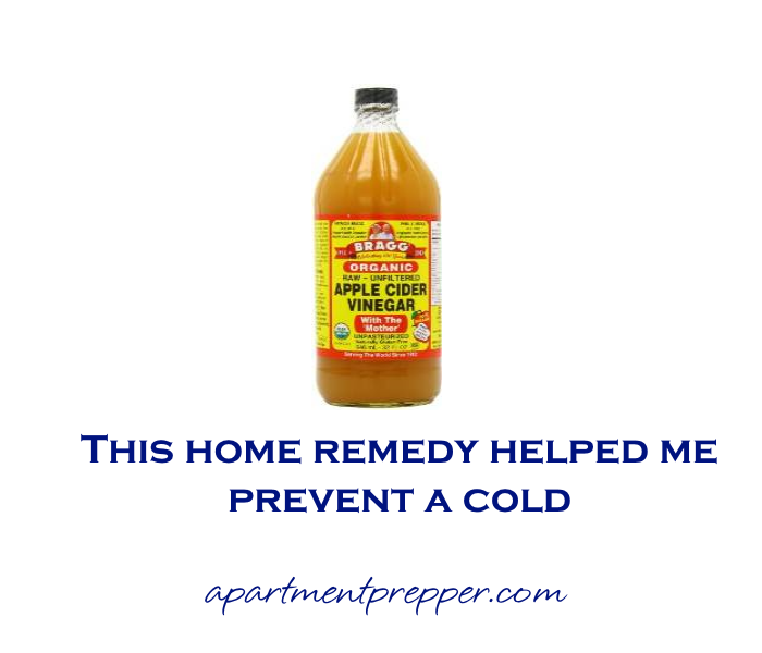 This home remedy helpedme prevent a cold