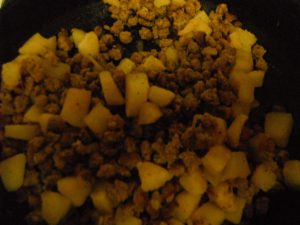 Freeze dried ground beef and potatoes