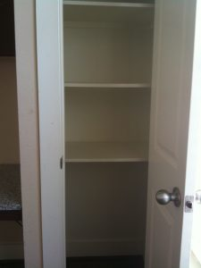 Apartment Pantry Shelves