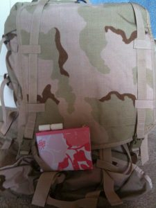 Makeup bag in a bug-out bag