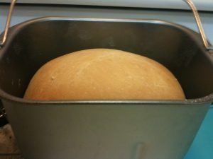 Fresh bread from the bread machine