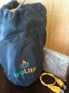 Contents of BioLite Stove box
