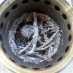 Ash inside Solo Stove