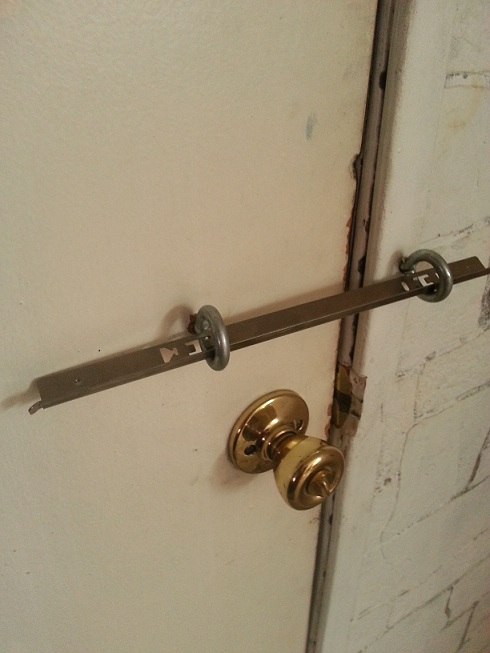 Low Tech Door Security Idea