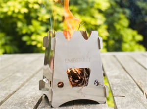 Emberlit stainless steel stove