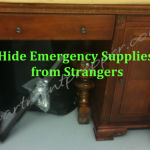 Hide your Emergency Supplies from Strangers