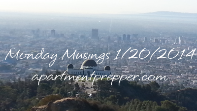 Monday Musings01202014