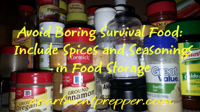 Avoid Boring Survival Food