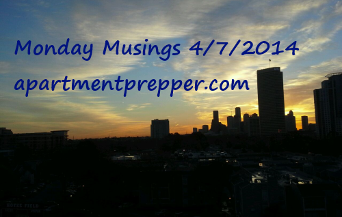 Monday Musings 04072014