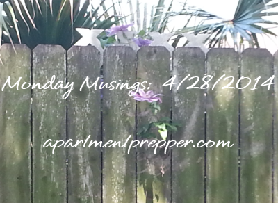 Monday Musings 04282014