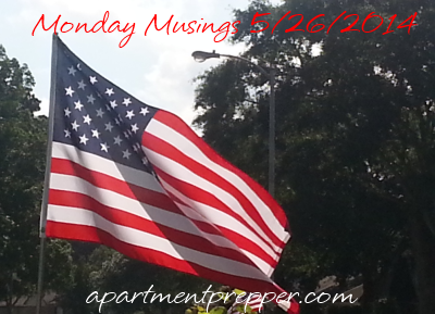 Monday Musings 5262014