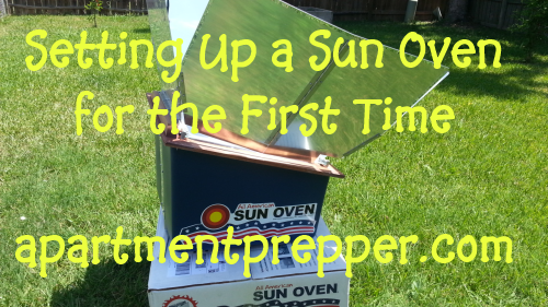 Setting Up a Sun Oven for the First Time