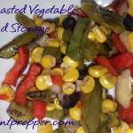 Fire Roasted Vegetables for Food Storage