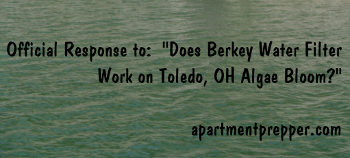 Does Big Berkey Work on Toledo OH algae bloom
