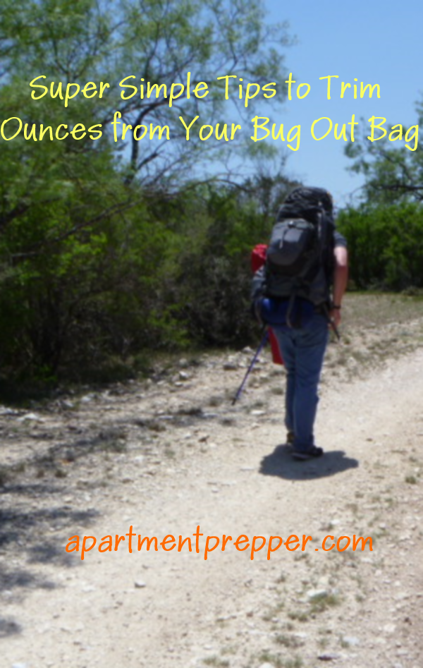 Super Simple Tips to Trim Ounces from your BugOut Bag