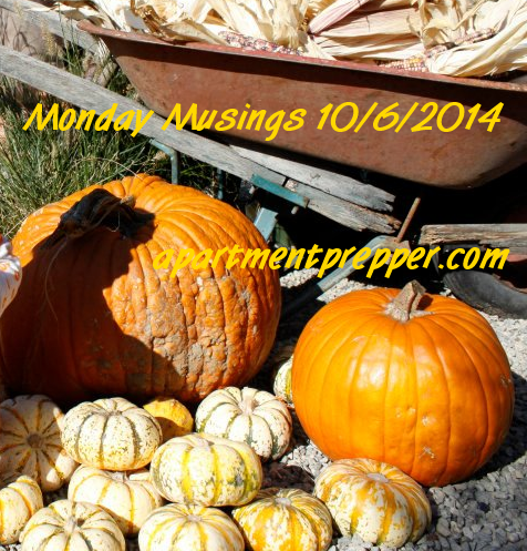 Monday Musings 10062014