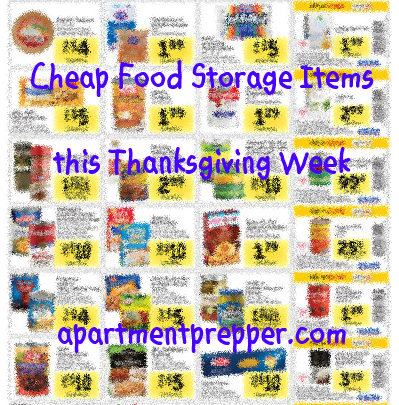 Cheap Food Storage Items this Thanksgiving Week