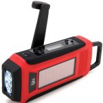 Weather radio and cell phone charger