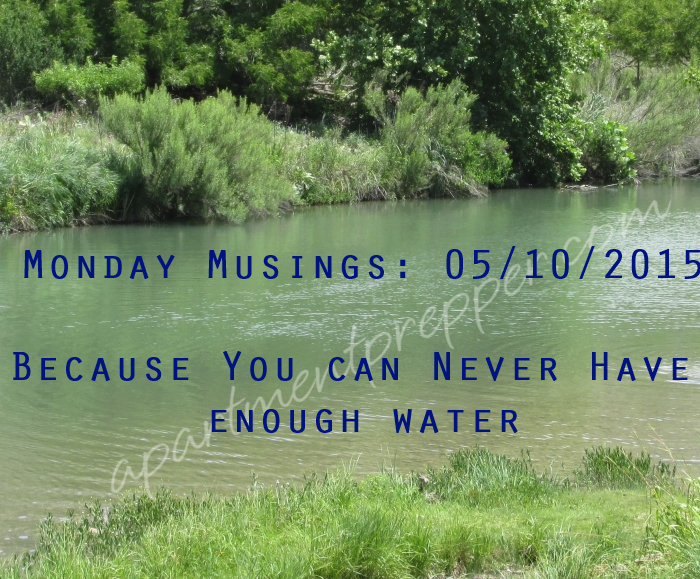 Monday Musings 05112015 Because You Can Never Have Enough Water