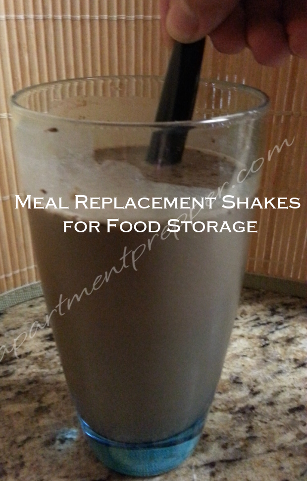 Meal Replacement Shakes for Food Storage