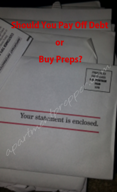 Should You Pay Off Debt or Buy Preps