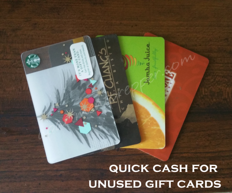Quick Cash for Unused Gift Cards