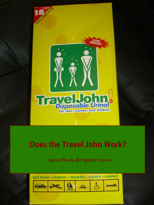 Does the Travel John Work1