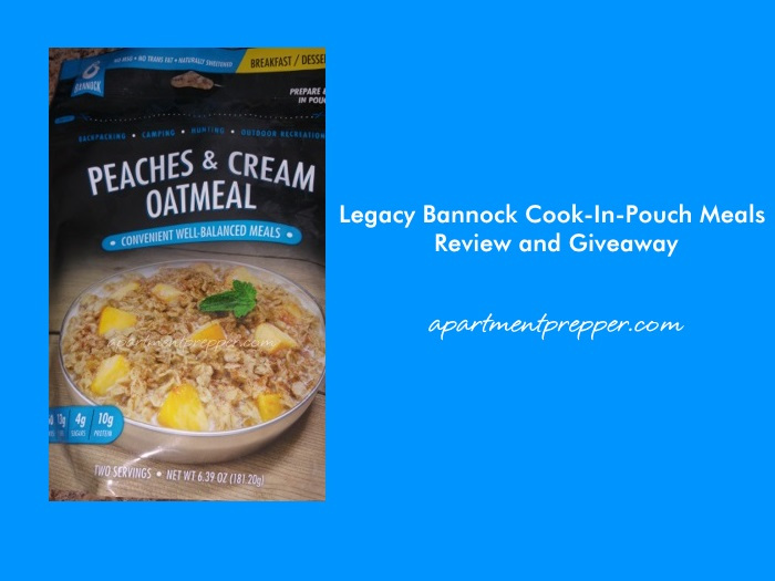 Legacy Bannock Cook-In-Pouch Meals Review and Giveaway