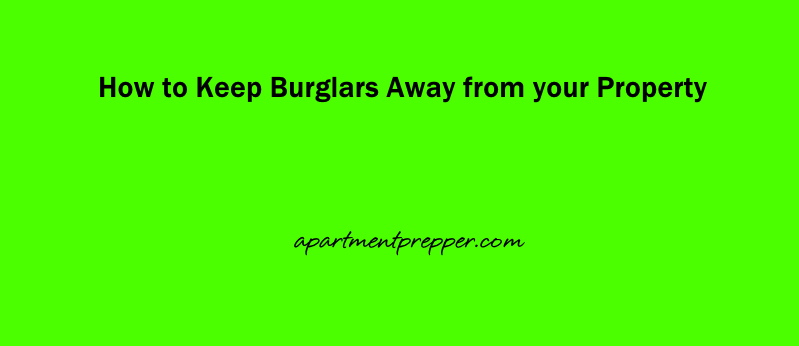 How to Keep Burglars Away from your Property