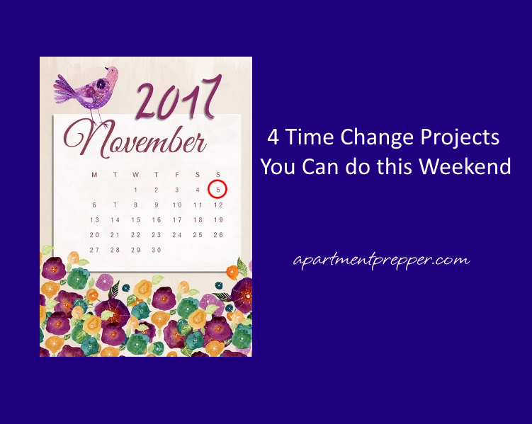 4 Time Change Projects You Can do this Weekend