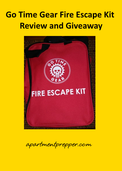 Go Time Gear Fire Escape Kit Review and Giveaway