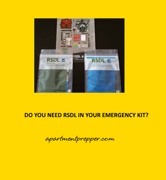 Do you Need RDSL in Your Emergency Kit