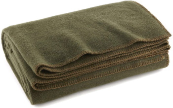 This image has an empty alt attribute; its file name is Olive-Wool-Blanket-2.jpg